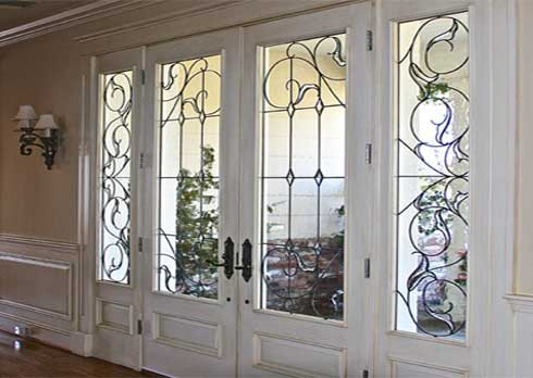 Traditional Beveled Leaded Glass Work From Stained Glass Beverly Hills and Silva Glassworks